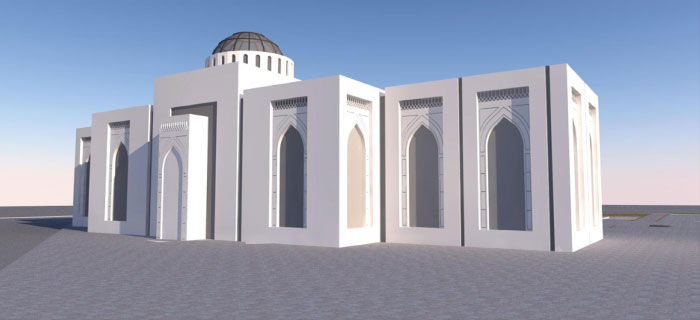 ICBC Mosque 3D Render