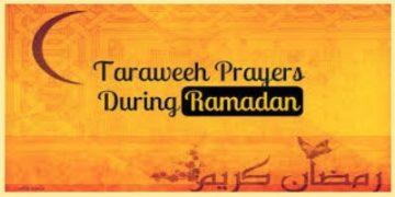 Quran Recitation during Taraweeh prayers