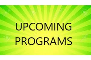 Upcoming Programs at ICBC